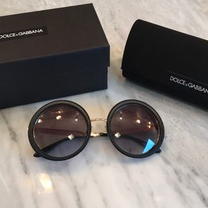 Authentic Dolce and Gabbana round sunglasses